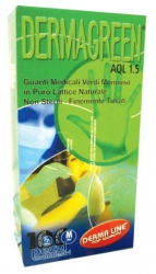 GUANTI DERMA GREEN FINEMENTE TALCATI IN LATTICE NATURALE taglia L, conf. 100 pz