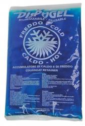 BUSTA di GHIACCIO GEL RIUTILIZZABILE CALDO FREDDO 18cm x 14cm DISPOGEL in SACCA